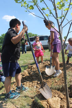 "<div class=""source"">RANDY PATRICK/The Kentucky Standard</div><div class=""image-desc"">Inner city children from Louisville plant a tree at Bloomfield Memorial Park Saturday. Scenic Fest was a rare opportunity for them to get outdoors in the country.</div><div class=""buy-pic""><a href=""/photo_select/77003"">Buy this photo</a></div>"