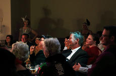 "<div class=""source"">KACIE GOODE/The Kentucky Standard</div><div class=""image-desc"">Guests react as things get a little comical on stage during ""Speakeasy Bourbon Style""  Wednesday night at The Gallery.</div><div class=""buy-pic""><a href=""/photo_select/89223"">Buy this photo</a></div>"