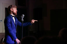 "<div class=""source"">KACIE GOODE/The Kentucky Standard</div><div class=""image-desc"">Zack (Adam Riley) performs during""Speakeasy Bourbon Style,"" an original play by Toni Wiley.</div><div class=""buy-pic""><a href=""/photo_select/89244"">Buy this photo</a></div>"