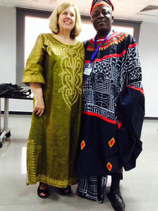 "<div class=""source"">RANDY PATRICK/The Kentucky Standard</div><div class=""image-desc"">Suzanne Hayden attired in Senegalese dress while attending an investigative journalism conference in Ghana.</div><div class=""buy-pic""></div>"