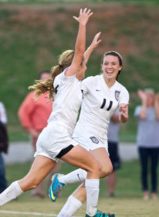 "<div class=""source"">Peter W. Zubaty</div><div class=""image-desc"">Claire Hicks, left, and Hannah Medley combined for 60 goals and 45 assists last year.</div><div class=""buy-pic""></div>"