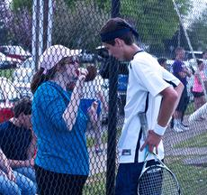 "<div class=""source"">Peter W. Zubaty</div><div class=""image-desc"">Thomas Nelson coach Rhonda Horn, left, instructs senior Derek Roby in between games. Roby won the boys' district singles crown last year.</div><div class=""buy-pic""></div>"