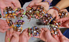 """<div class=""""source"""">KACIE GOODE/The Kentucky Standard</div><div class=""""image-desc"""">Key Club members are selling Yuda Bands as a service project to support a Guatemalan student. </div><div class=""""buy-pic""""><a href=""""/photo_select/94457"""">Buy this photo</a></div>"""