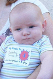 0-6 Month Category Bentley Greenwell 2 months old Son of Dana Mattingly and Daniel Greenwell