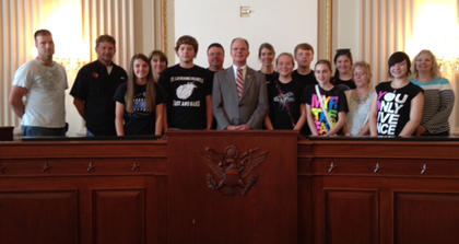 The eighth-graders at St. Catherine Academy in New Haven went on their annual trip to Washington, D.C., from May 6-8.  There they met U.S. Rep. Brett Guthrie of Kentucky.