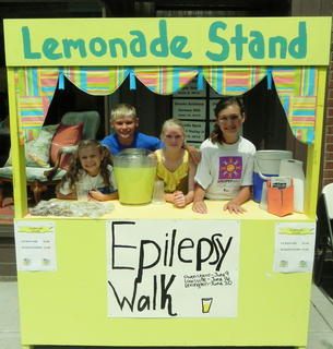June 10, there was a lemonade stand in front of  At Mary's to raise money for the Epilepsy Walk in Louisville on June 16. Pictured from left are  Rebecca Lee, Chase Howard, Sammi Howard and Lauren Lee.