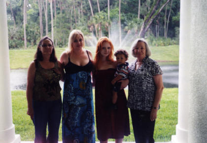 Five generations of family members pose. From left, Dianna Lewis, Jessica Phillips, Kassidy Phillips, Cameron Phillips and Nona Cundiff.