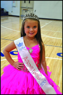 Keilana Aubrey Cargo was named the Tiny Miss Buttermilk Festival Queen, 4-6 years of age, at the 2013 Buttermilk Festival pageant.