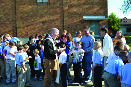 On Oct. 1, St. Catherine Academy held its annual blessing of the animals. Students were invited to bring their animals to be  blessed by Father Troy in honor of St. Francis of Assisi, whose feast day is Oct. 4.