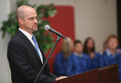 Nelson County Schools Superintendent Anthony Orr spoke at the 2011 Horizons Academy graduation.