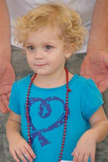 25 - 36 Month Category Lindsey Nicole Wade 2 1/2 years old Daughter of Jeremy and Beth Wade
