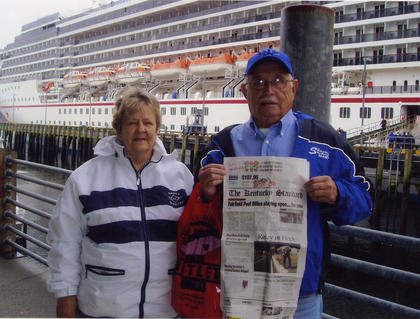 Paul and Terry Gritton recently took The Kentucky Standard on a Carnival Cruise trip to Alaska and Canada.