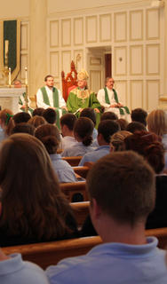 Bethlehem High School celebrated its opening school mass at 10:30 a.m. Wednesday with singing from the Bethlehem Liturgical Choir and a visit from the Most Rev. Joseph Kurtz, archbishop of the Archdiocese of Louisville.