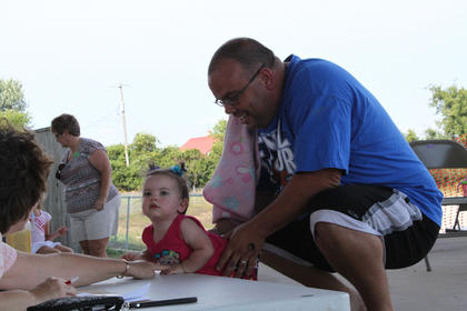 Aubrey Kay Smith wows the judges at the Nelson County Fair Baby Contest held Thursday, July 19, at the Nelson County Fairgrounds.