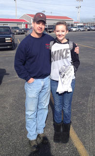 Madison Bischoff, of Bardstown, had a surprise visit and autographed T-shirt, at school from Tim Smith from the Moonshiners Show.