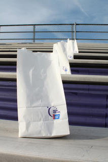 Attendees at the May 13, 2011, Relay for Life fundraiser could purchase luminary bags on which they could write the name of a loved one who has suffered from cancer. Candles were placed in the bags and were lit after dark for the Luminaria Ceremony.