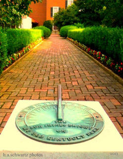 Sundial in the formal gardens of My Old Kentucky Home, Summer 2011