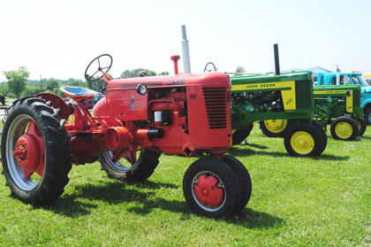 John Deere, Farmall and many more brands of tractors were brought to the show.