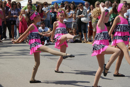"""The 7- and 8-year-olds of Dance Pro's danced to """"Baby."""""""