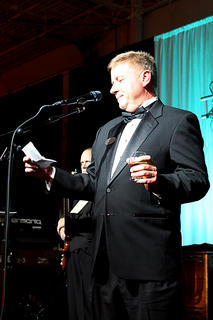 Bourbon ambassador Ken Pierce of Barton's 1792 Distillery leads a toast of 1792 bourbon at the Great Kentucky Bourbon Tasting & Gala as part of the Kentucky Bourbon Festival Saturday.