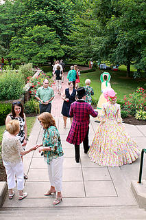"""Guests and actors in costume enjoyed dinner and cocktails at the """"Stephen Foster Story"""" Opening Night Gala & Garden Party June 11."""