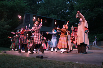 Ensemble members hail from throughout Kentucky, but a large number of them are from Nelson County. (Photo from a June 9 dress rehearsal.)