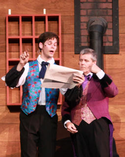 "Stephen Foster (Max Pallman) sells the song ""Old Folks at Home"" to E.P. Christy (Ben Sears)."