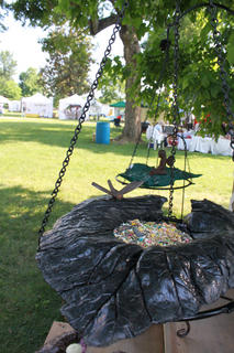 New to the Wickland Arts and Crafts Festival in its second year were Pam Zevotek's concrete leaf castings, which can serve as fountains, birdfeeders or indoor centerpieces.