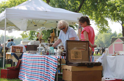 Grace Barnes' granddaughter, Alison Barnes, helped her run an antiques booth at the second annual Wickland Arts and Crafts Festival June 11-12, 2011.