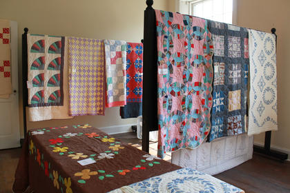 A display of about 75 quilts - a few of them dating to the 1860s - occupied the second floor of the historic home of Wickland during the second annual Wickland Arts and Crafts Festival June 11-12, 2011.