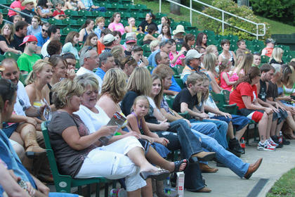 Several hundred people came out for the show Monday night.
