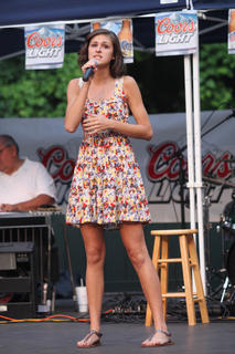 Beth Cecil, Bardstown, performs.