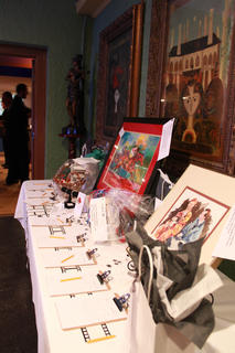 Auction items at the Feb. 12, 2011, Beautiful Dreamer Ball included works of art, Anytime Fitness membership, a Springhill Winery basket and a Maker's Mark serving tray.