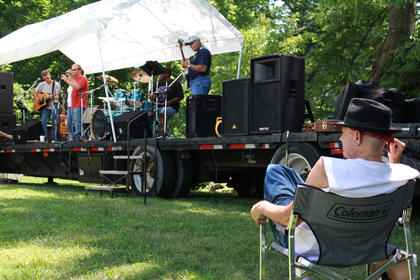 Guests listened to the music of Stoner Road and enjoyed food prepared by the Fairfield Cemetery Committee at the 2011 Fairfield Days and Homecoming.