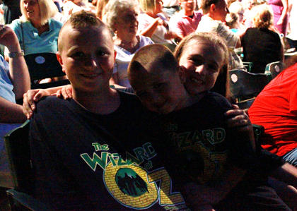 "Three children came from Shepherdsville to watch the stage production of one of their favorite movies on opening night of ""The Wizard of Oz"" July 7."