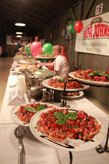 Bardstown Catering Company served a variety of bruschetta at the 18th annual Taste of Bardstown fundraiser.