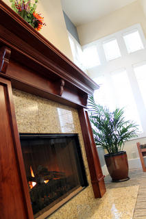 The New Haven Branch even features a working fireplace.
