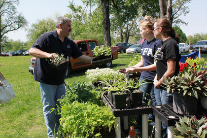 Nelson County FFA students sold herbs and plants at the festival.