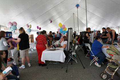 The annual Flaget Baby Fair was Saturday.