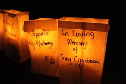 Luminaries were chosen to represent those who have battled cancer because of the fragility of a flame, similar to someone battling the disease.