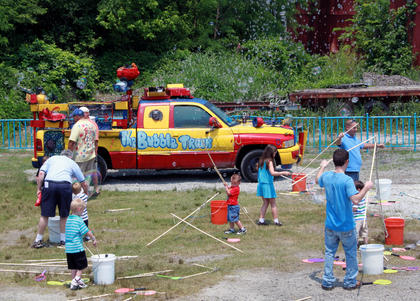 A bubble truck entertained children at the Thomas the Tank Engine event and activities day at the Kentucky Railway Museum in New Haven June 4.