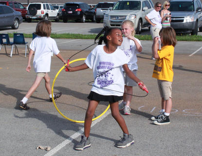 Bardstown Primary School students jump-roped and hula-hooped the day away at Tigerpawlooza June 2, 2011.