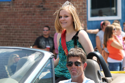 Hannah Miles is the Queen of the Iron Horse Festival for 2012.