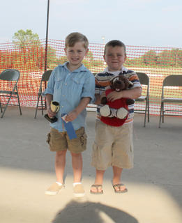 "Winners of the Nelson County Fair Tiny Tots Contest-Boys 49-59 month category were first place, David Patrick Norris Jr., son of Danny and Amy Norris, of Bardstown; second place, Donald ""Nelson"" Jury III, son of Donald ""Donnie"" Nelson Jury Jr. and Tanya Jo Jury of Bardstown."