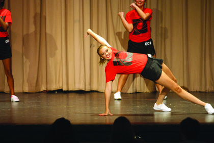 Haley Shrewsbury performs a portion of a fitness routine during the Nelson County Distinguished Young Women competition Saturday at Nelson County High School. Shrewsbury won the talent portion.