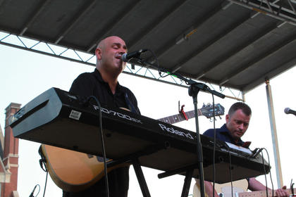 Bardstown/Australia folk-rock musician Pauly Zarb, left, performs at Pauly Zarb's Bardstown Street Concert July 9.