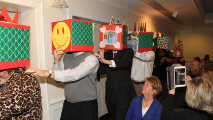 The chamber board members' comical dragon dance marked the occasion of the Chinese new year at the awards dinner.