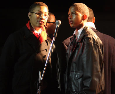 Young Men United sang during the parade.