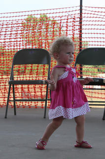 Reagan Nicole Parrish, Boston, struts her stuff at the Nelson County Baby Fair Contest on Thursday, July 20, at the Nelson County Fairgrounds.