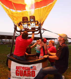 Participants prepare for the balloon glow.